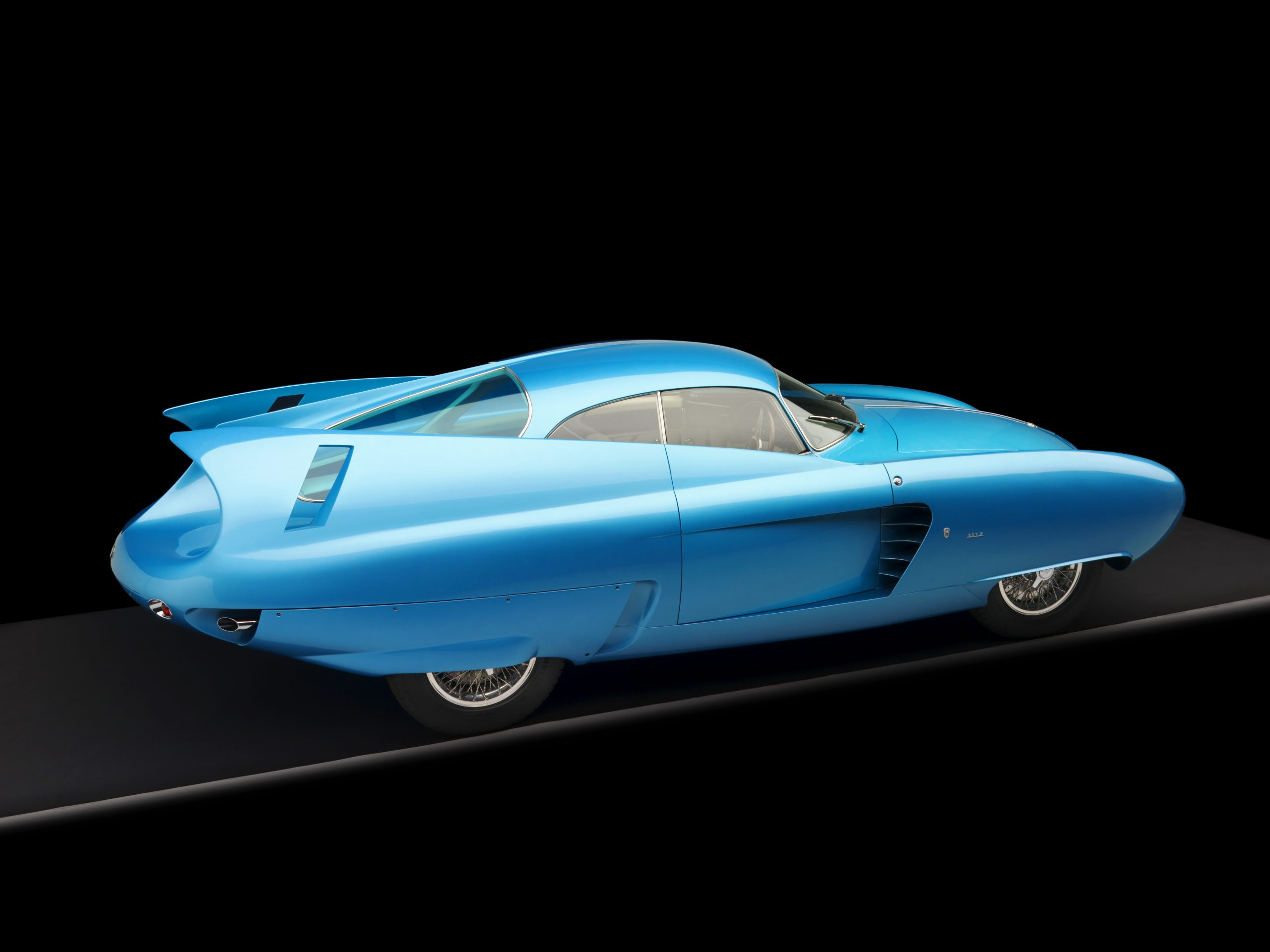 1954 Alfa Romeo Bertone B.A.T. 7 Teal 3/4 Rear View Studio