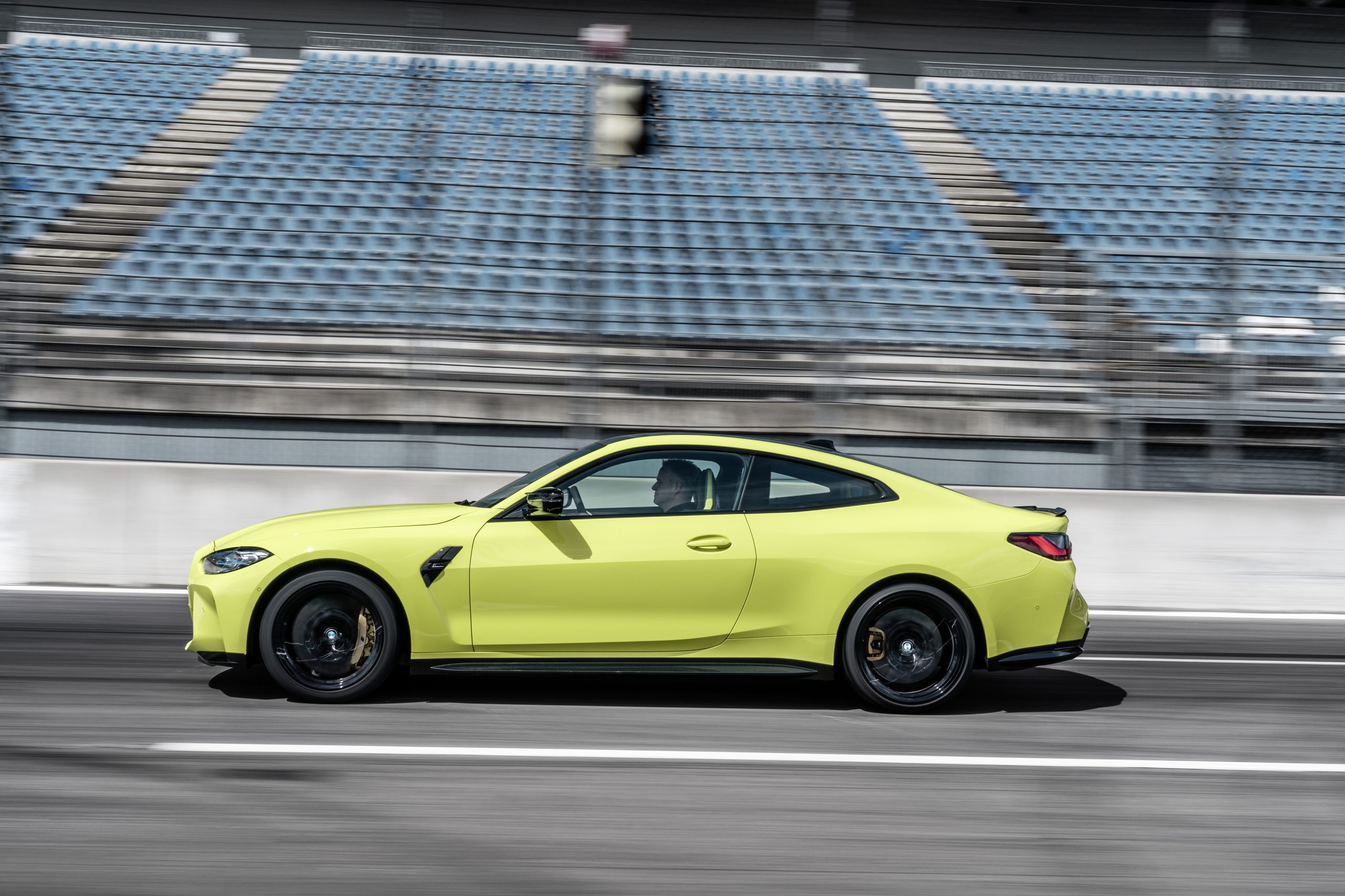 BMW M4 side profile action