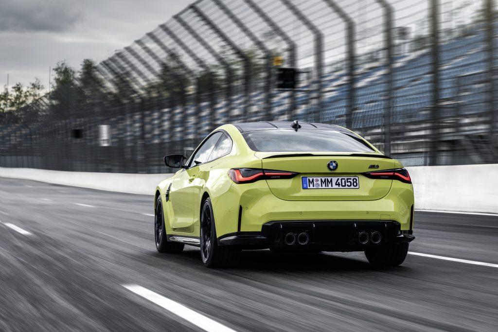 BMW M4 rear three-quarter action