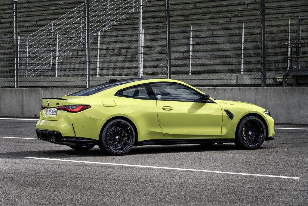 BMW M4 rear three-quarter