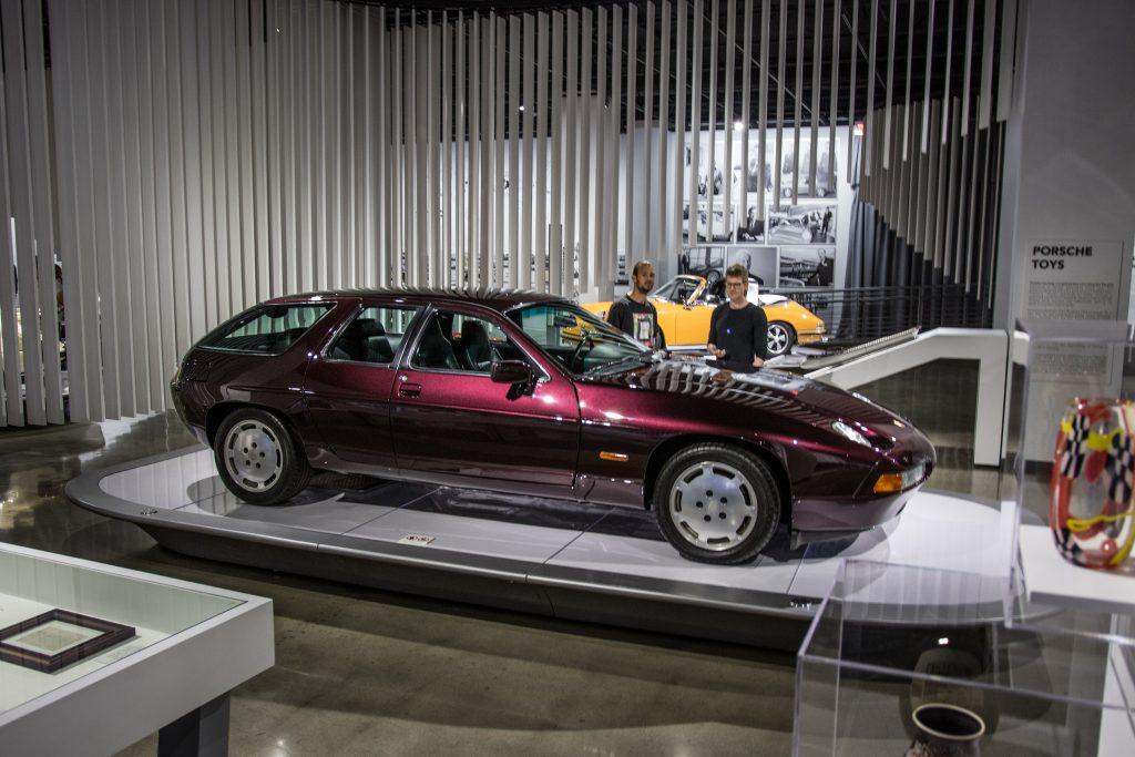Porsche 928 four-door prototype display Petersen