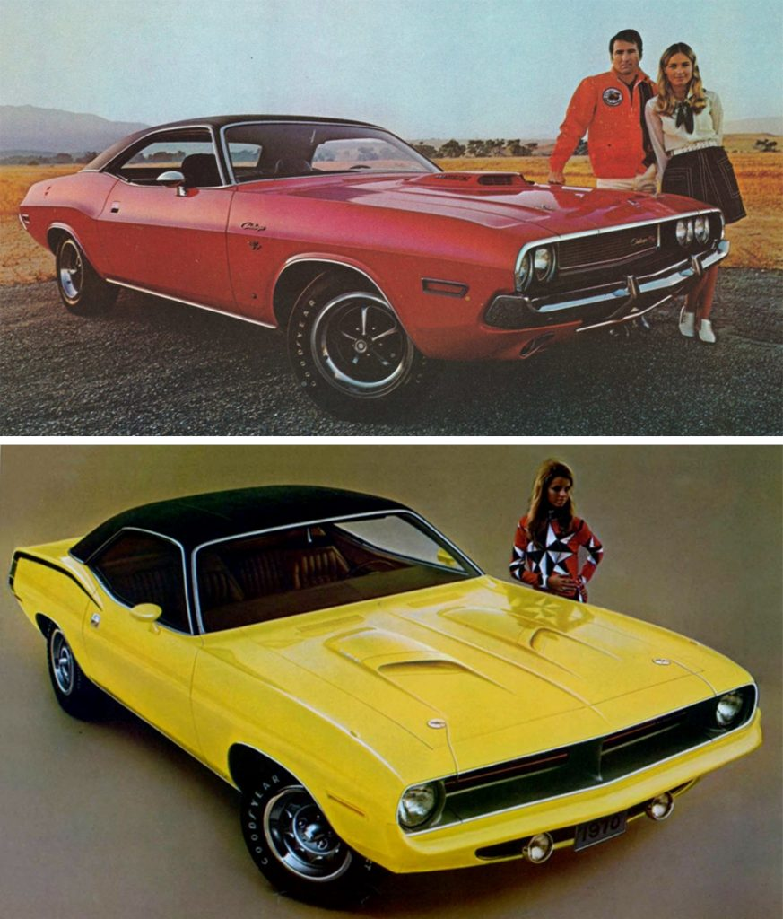 plymouth barracuda and dodge challenger together