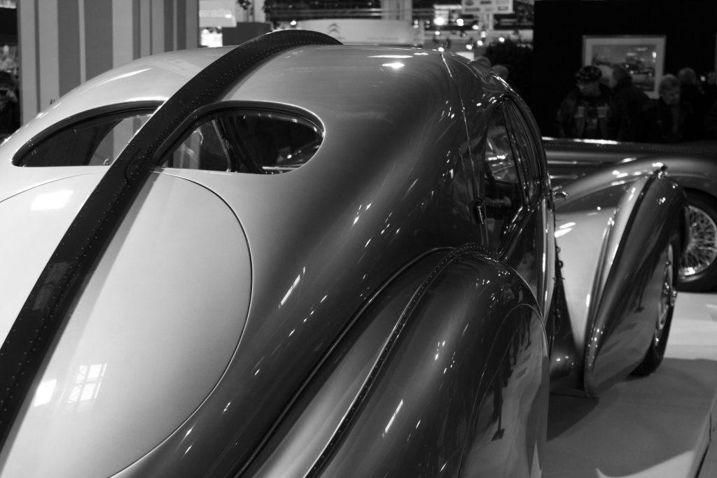 Bugatti Atlantic on display rear split window