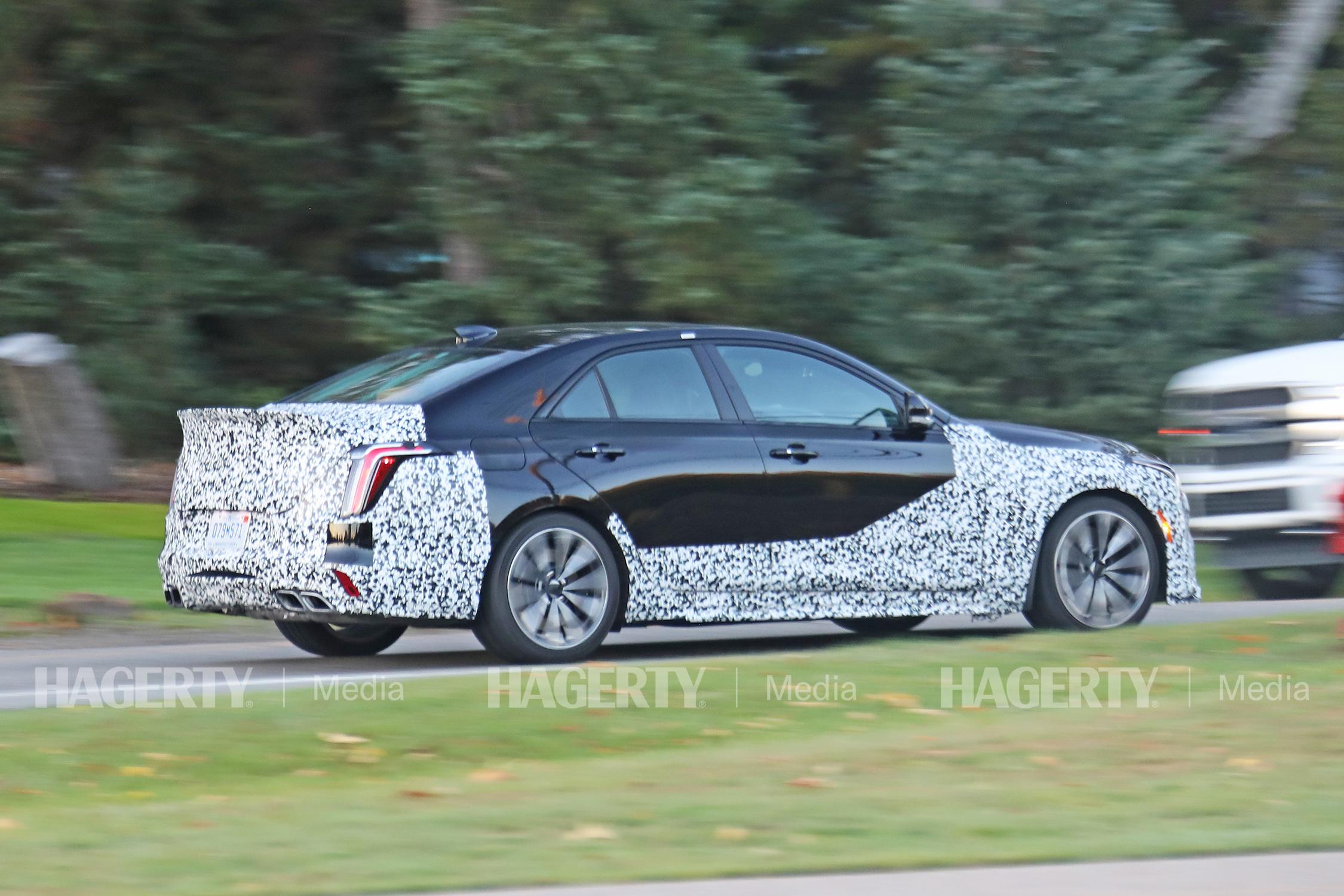 Cadillac CT4V rear three-quarter