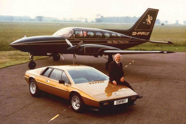 colin chapman esprit and jet plane