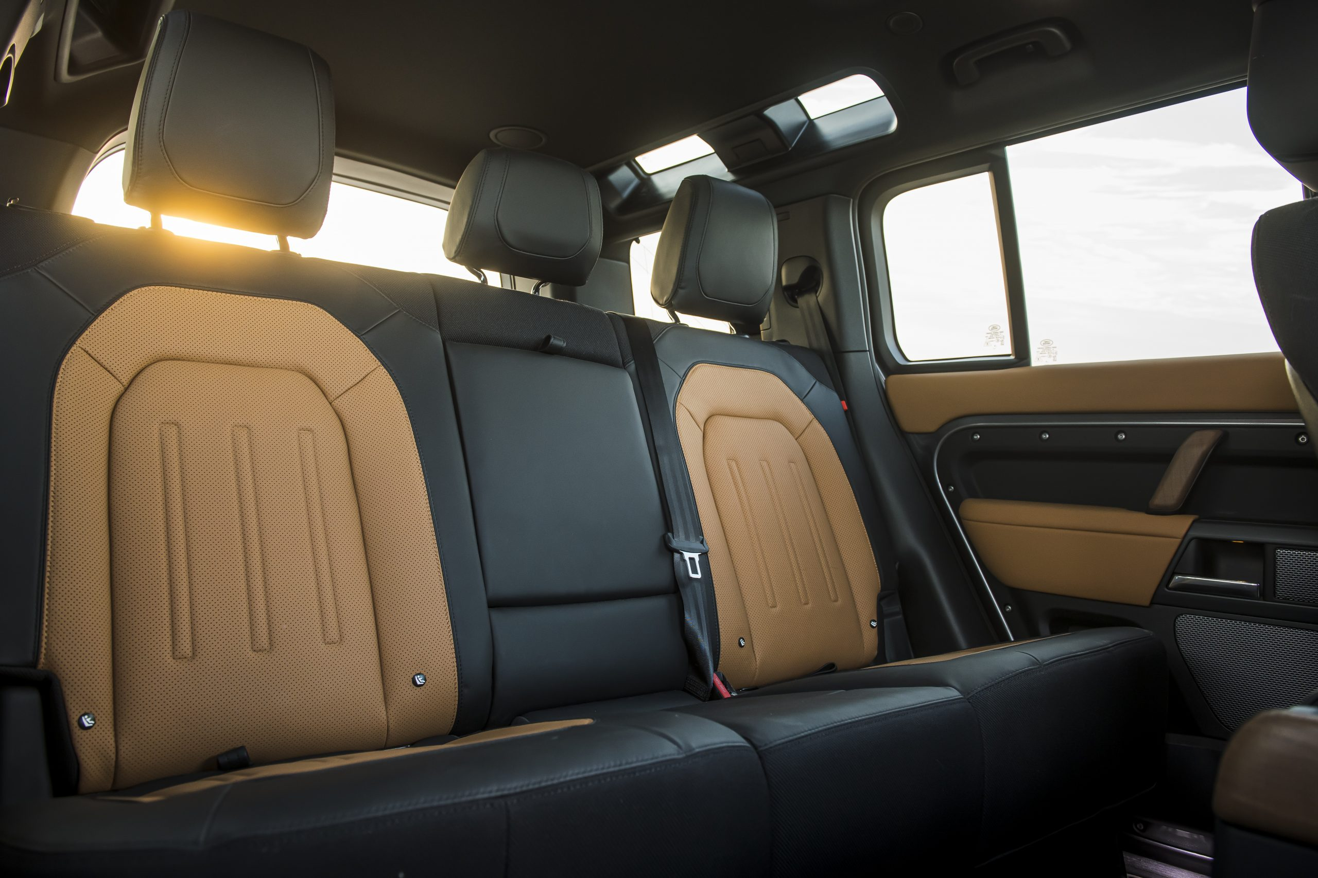 2020 Land Rover Defender rear seat