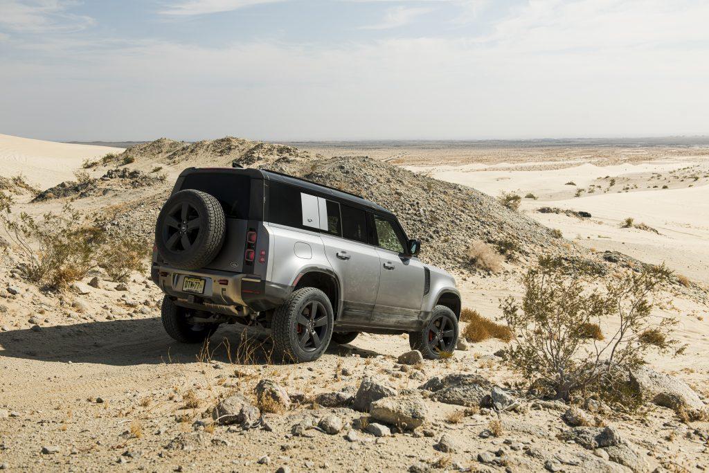 2020 Land Rover Defender rear three quarter