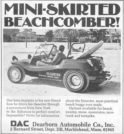 Dune Buggy Deserter advert