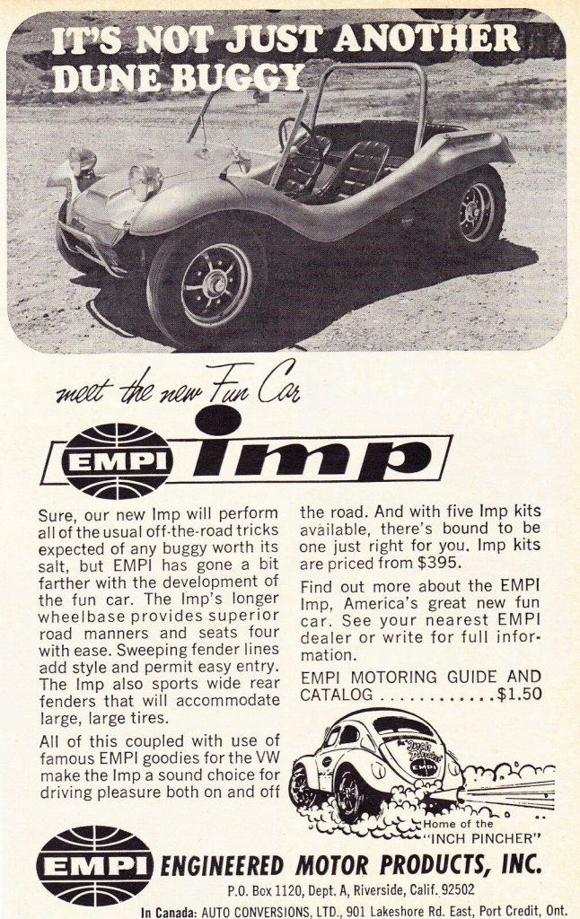 EMPI dune buggy ad