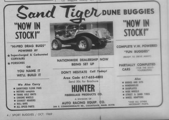 hunter sand tiger dune buggy ad