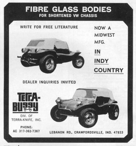 sears rascal terra buggy dune buggy fibre glass body ad