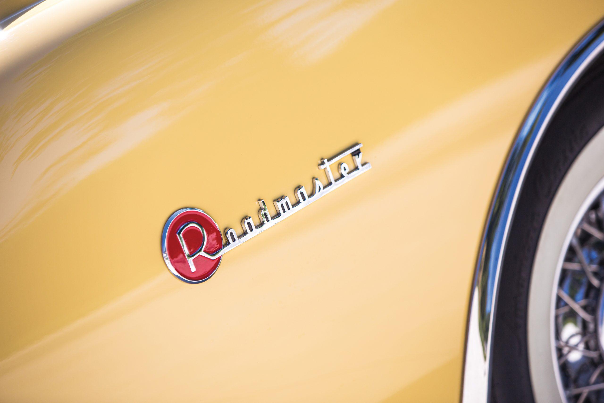 1954 Buick Roadmaster Convertible badge detail
