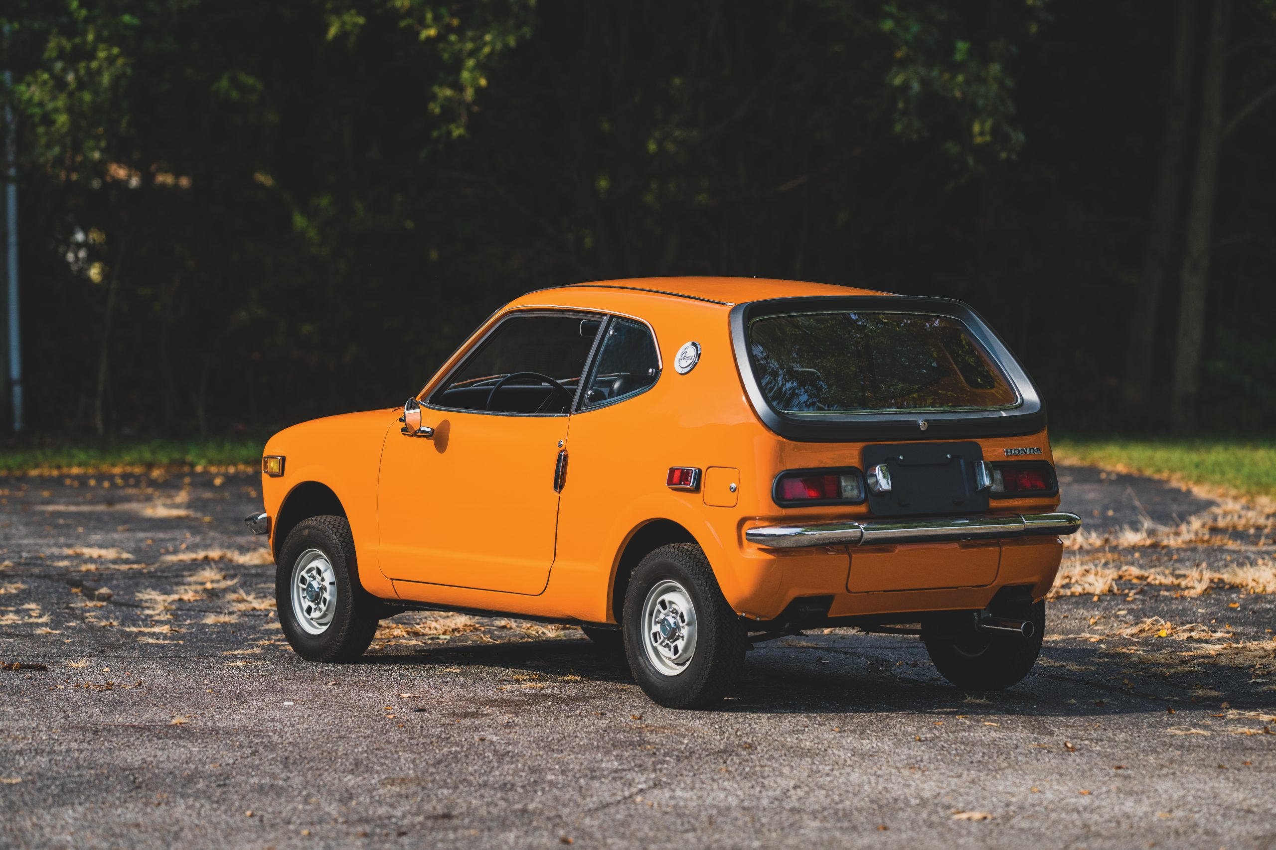 1972 Honda Z600 Coupe rear three-quarter