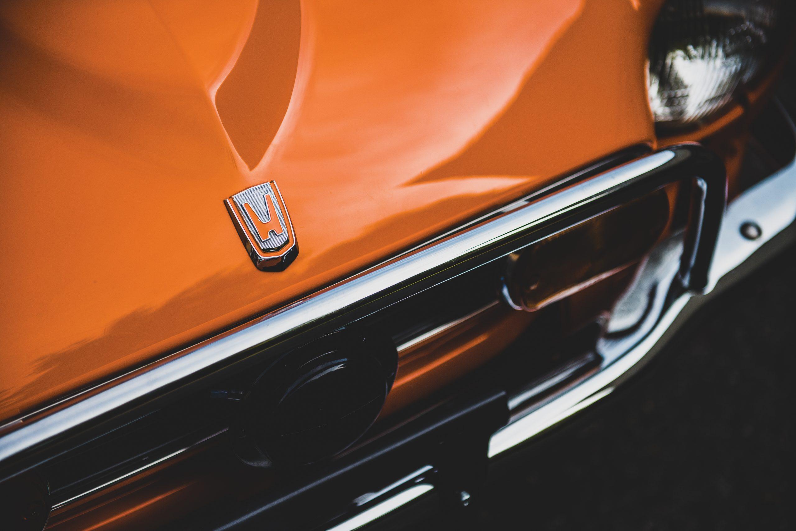 1972 Honda Z600 Coupe hood detail