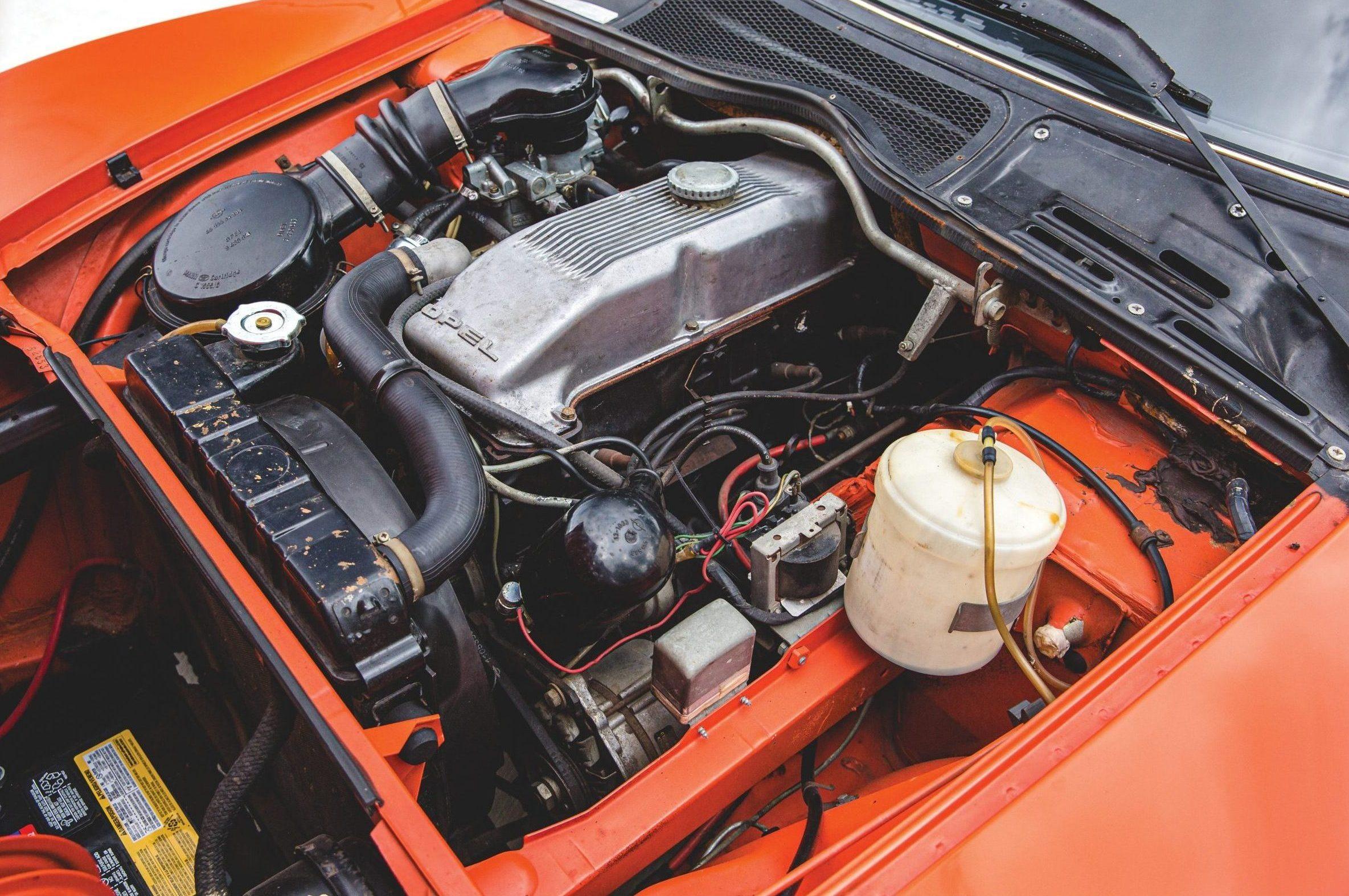 1973 Opel GT engine