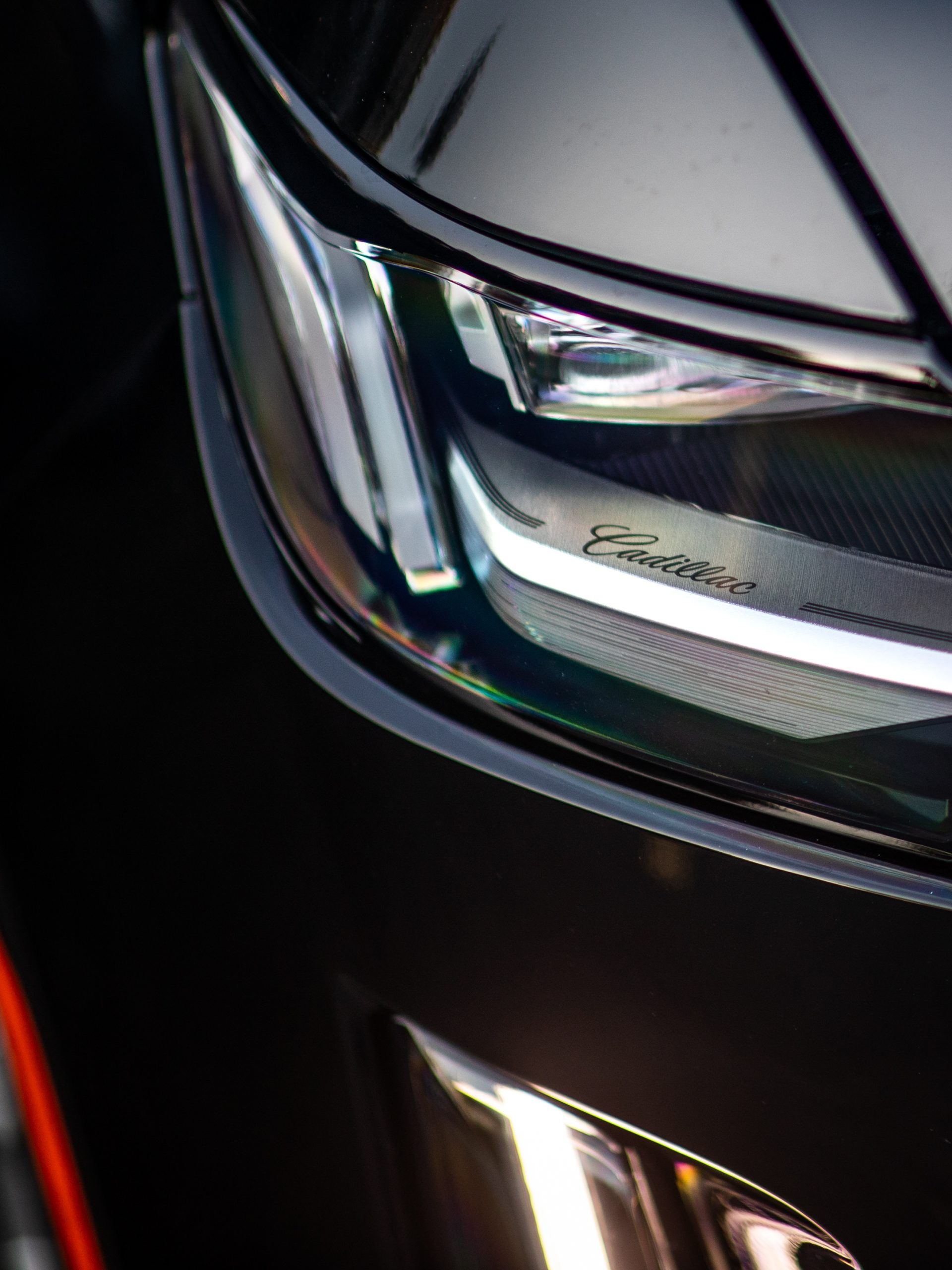 cadillac escalade headlight close up