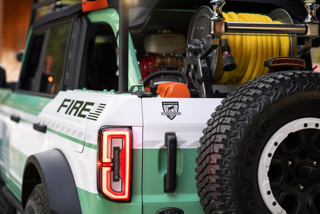 Bronco + Filson Wildland Fire Rig Concept rear gear shot