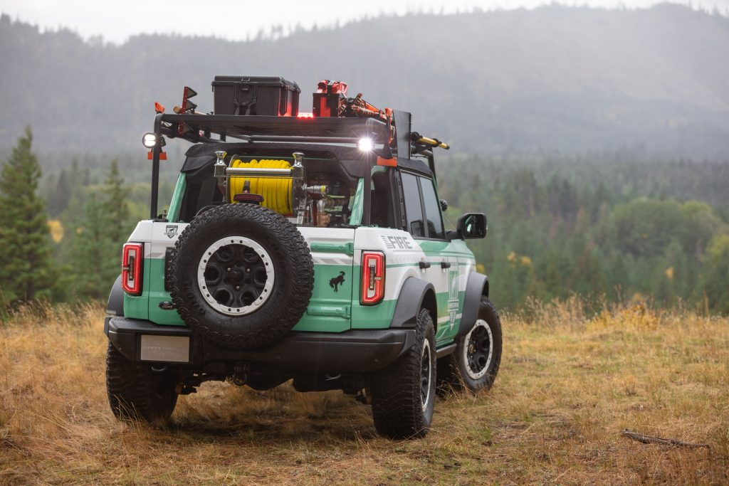 Bronco + Filson Wildland Fire Rig Concept stationary rear