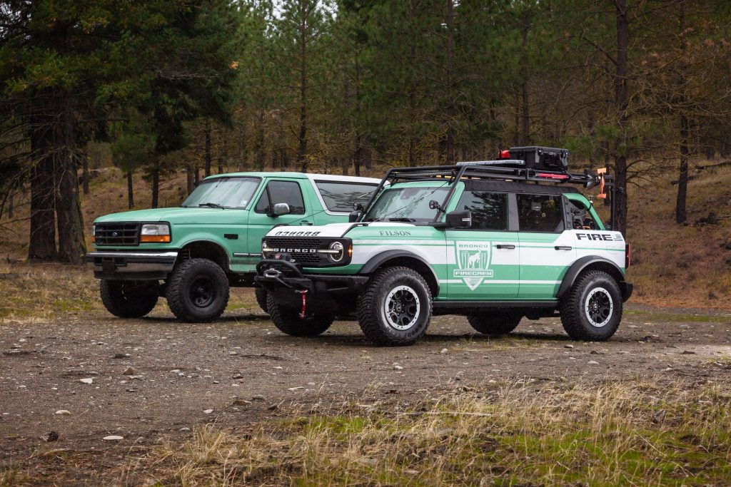 Bronco + Filson Wildland Fire Rig Concept old and new
