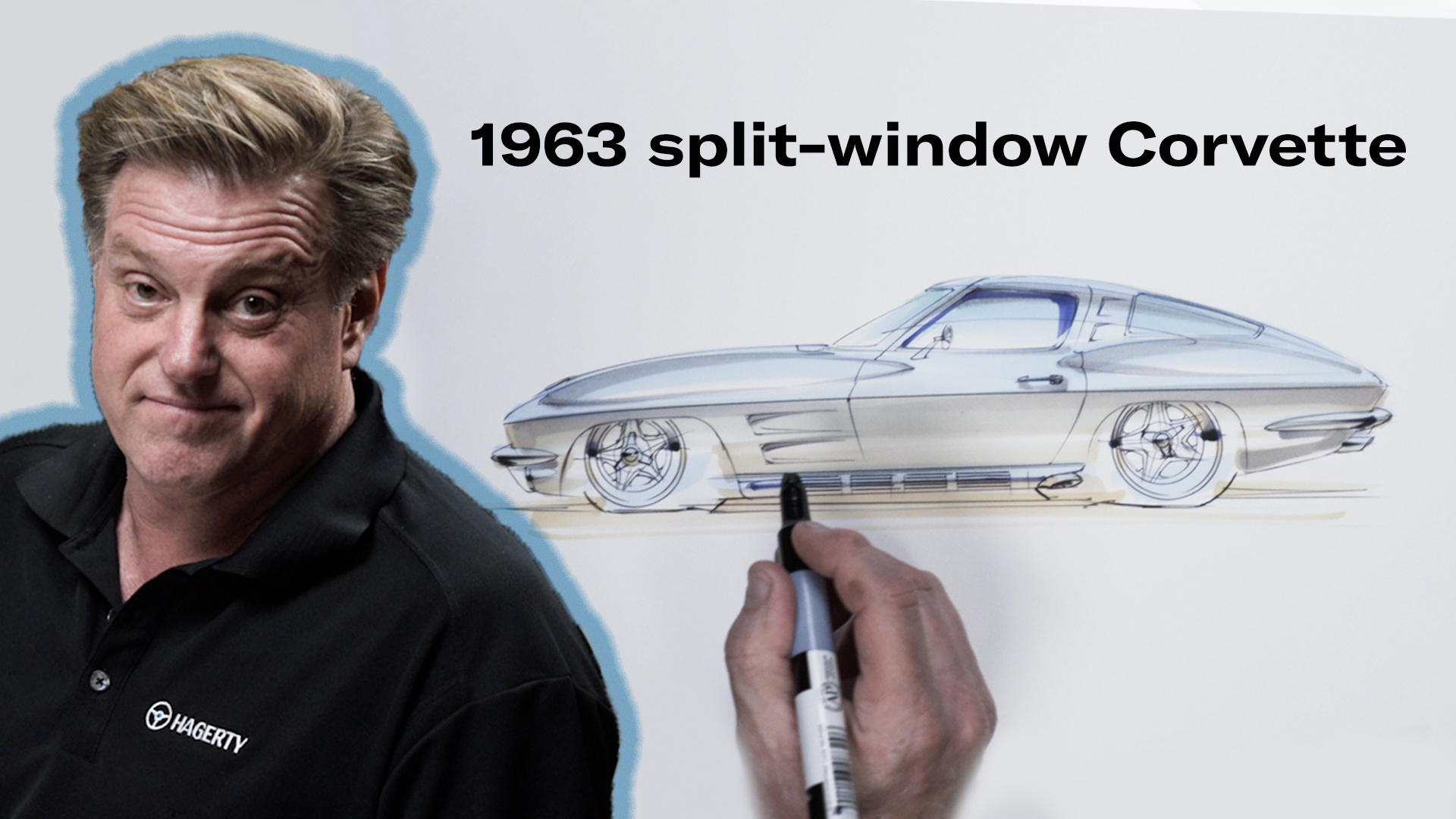 Chip Foose draws a Corvette