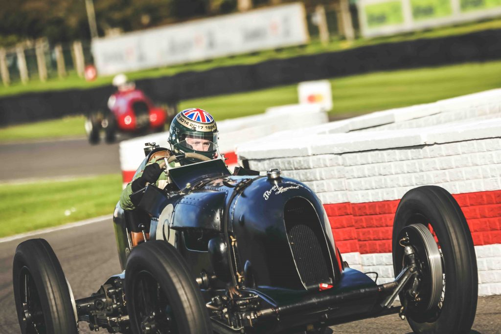 goodwood vintage racecar front action