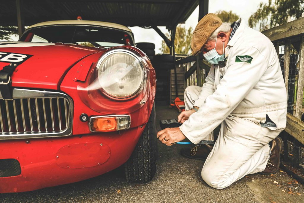 roy gillingham tending to 1964 ex-works MG B