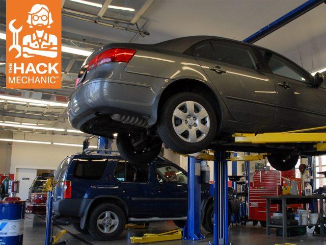 cars on lifts hack mechanic column