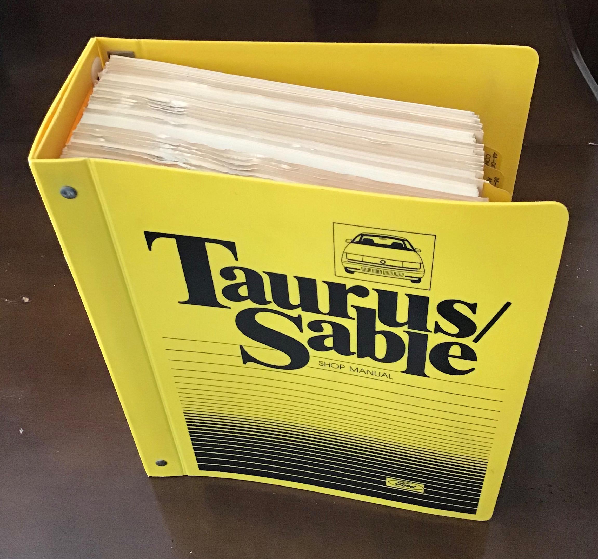 Ford Taurus 3.8L shop manual