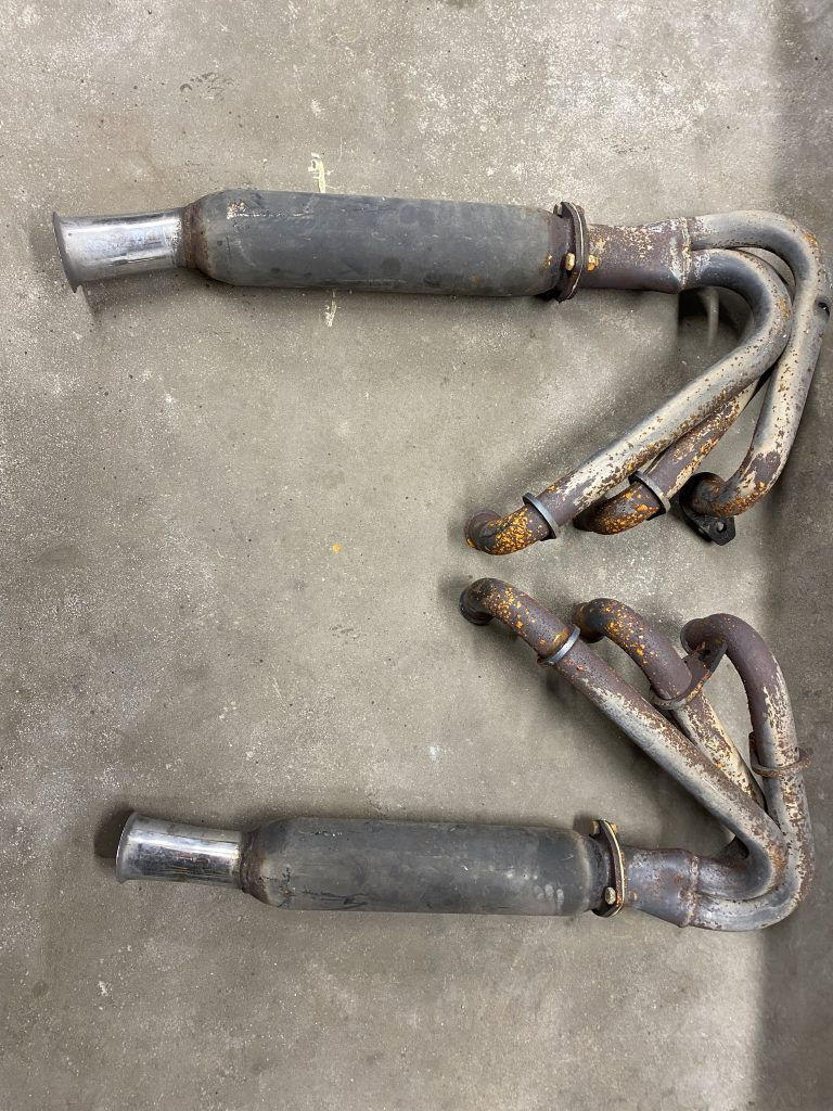 Chevrolet Corvair Headers with mufflers
