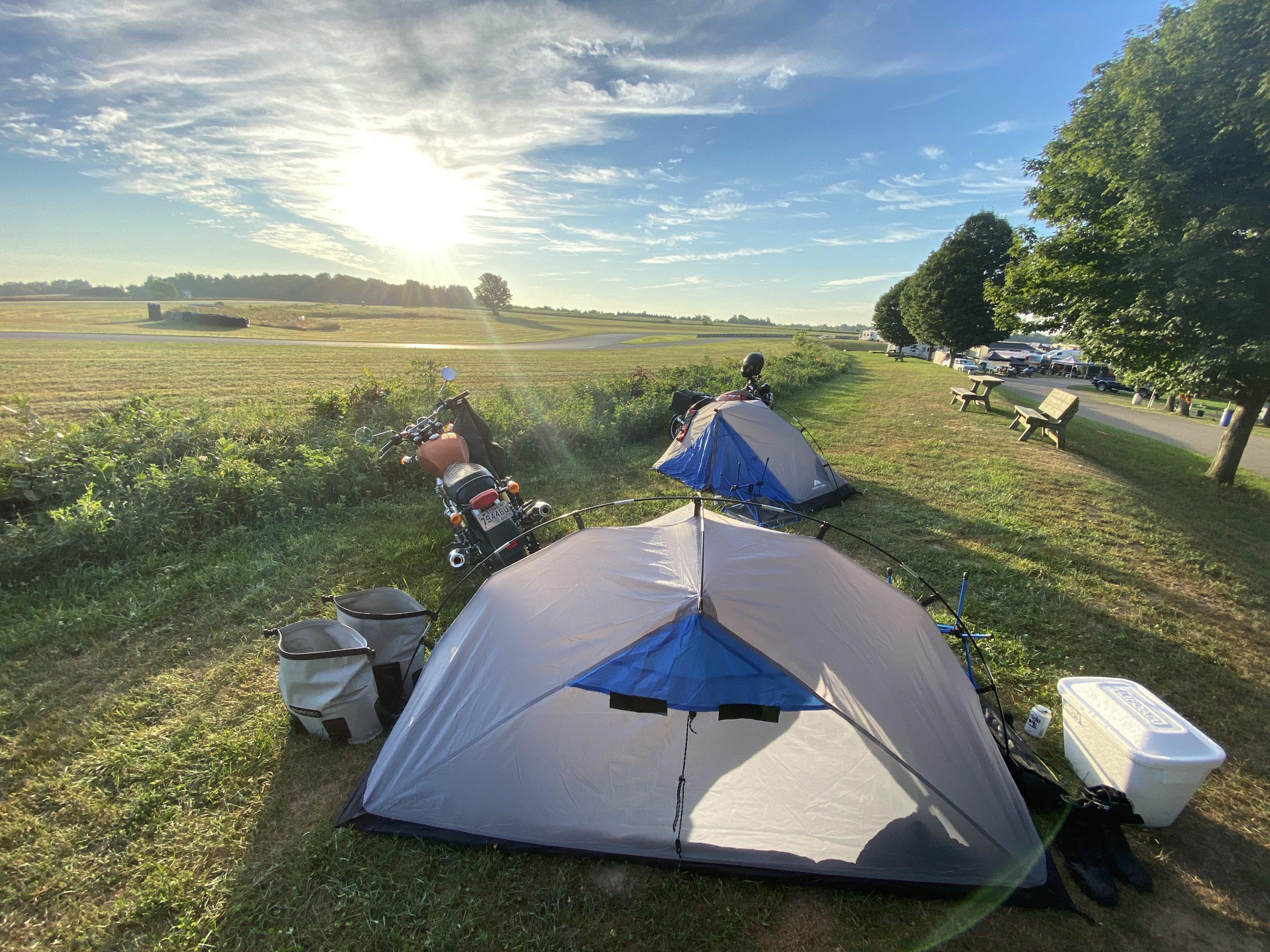 gingerman moto trip campsite