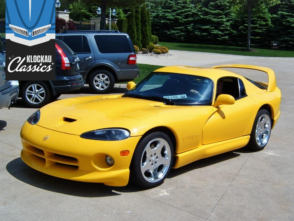 yellow dodge viper front three-quarter klockau classics