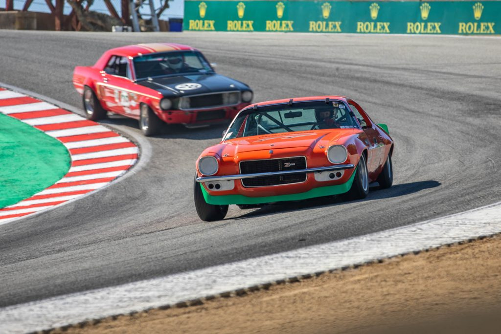 Laguna seca race action cornering