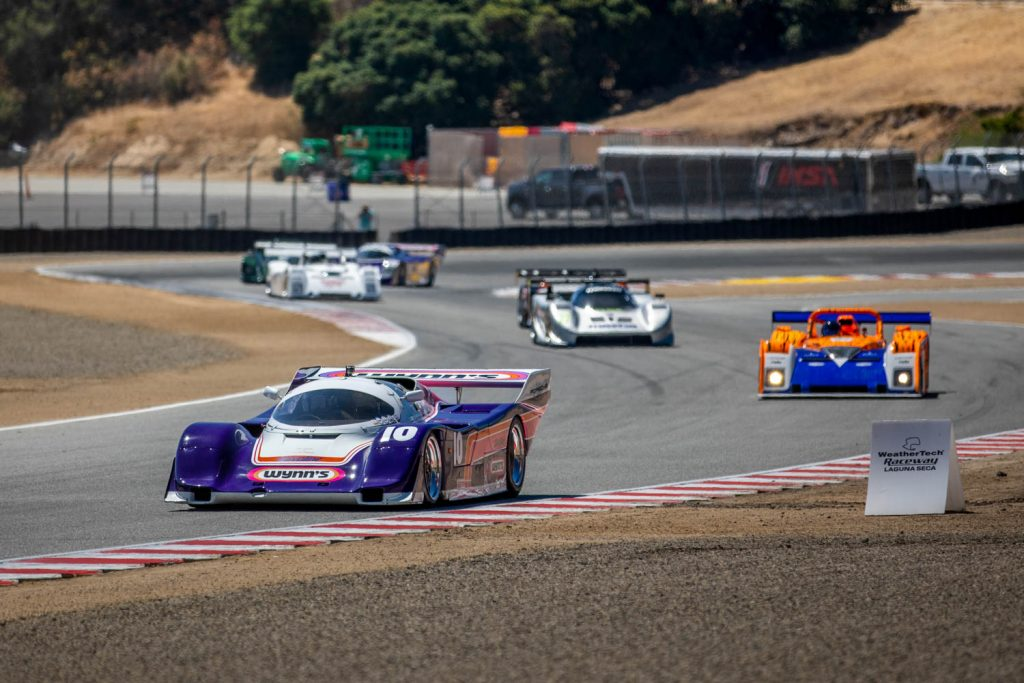Laguna seca race action cars