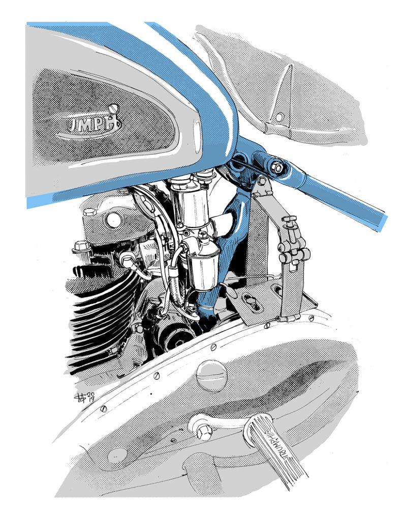 1952 triumph thunderbird sprung hub_squires