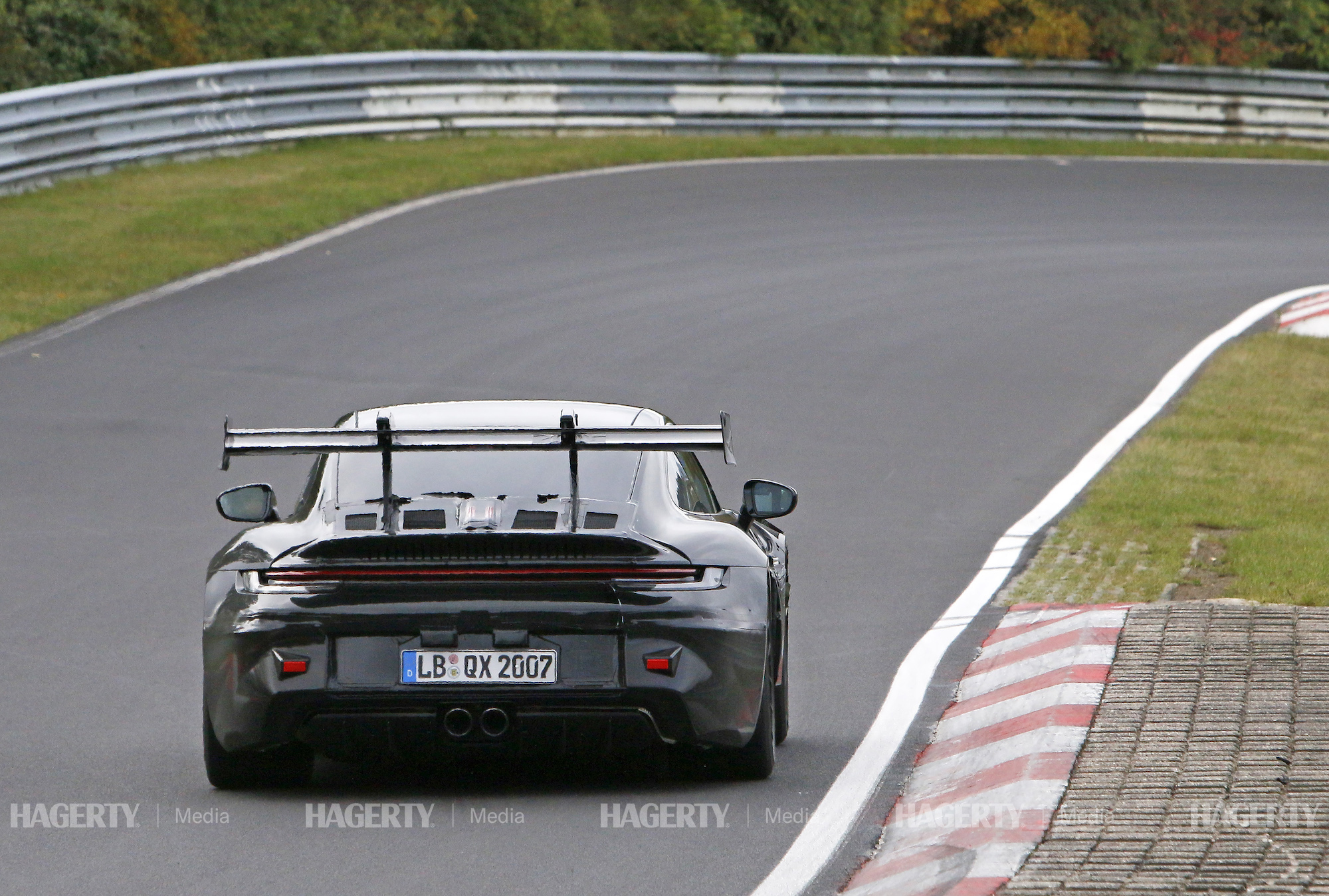 new porsche gt3 rs prototype rear