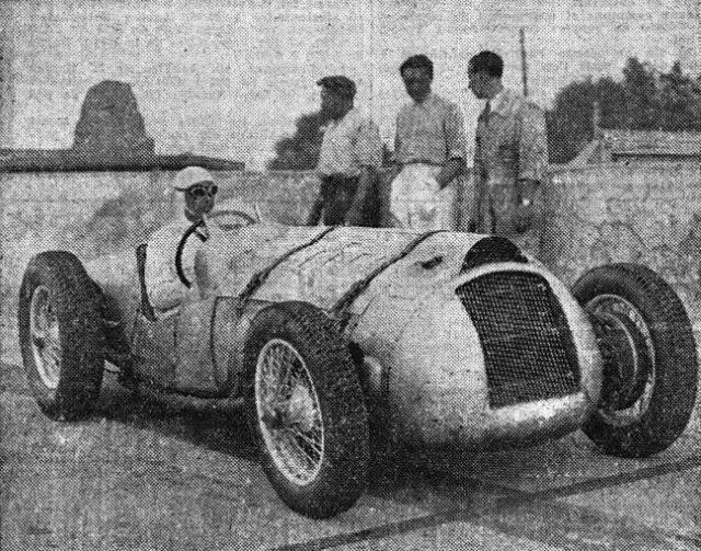 René Dreyfus Million Franc Car at Montlhéry 1937