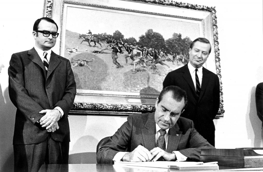 Richard Nixon signing the Clean Air Act of 1970