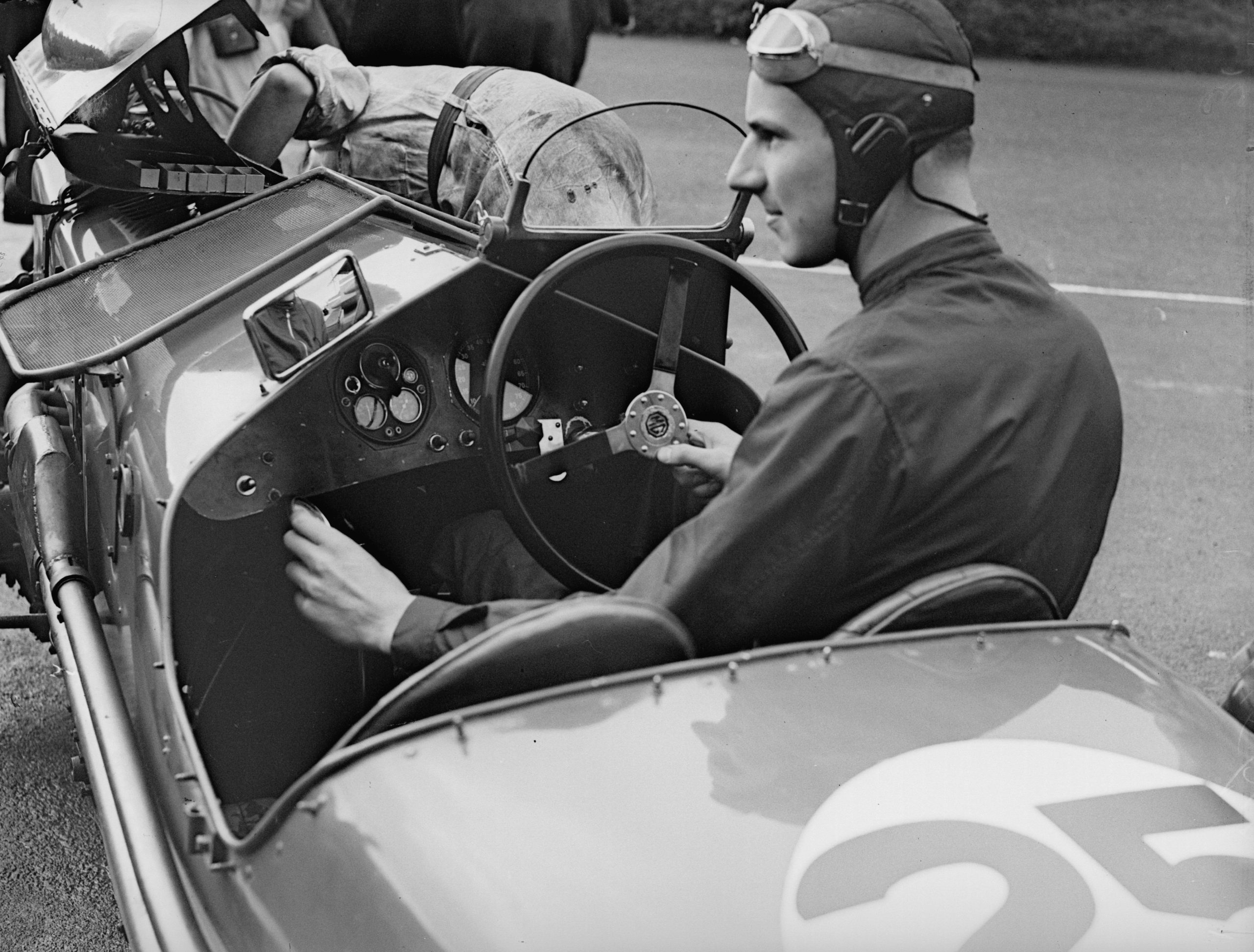 Richard Seaman in MG racecar