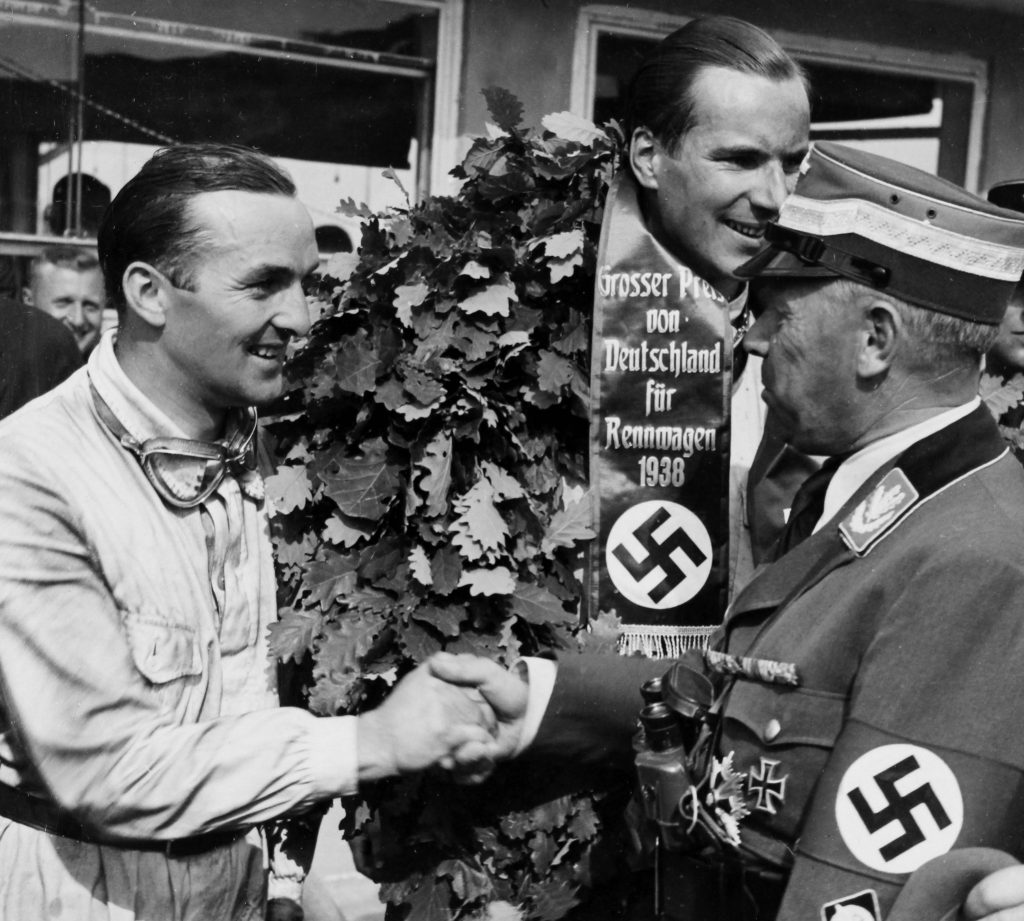 Richard Seaman winning german grand prix 1938