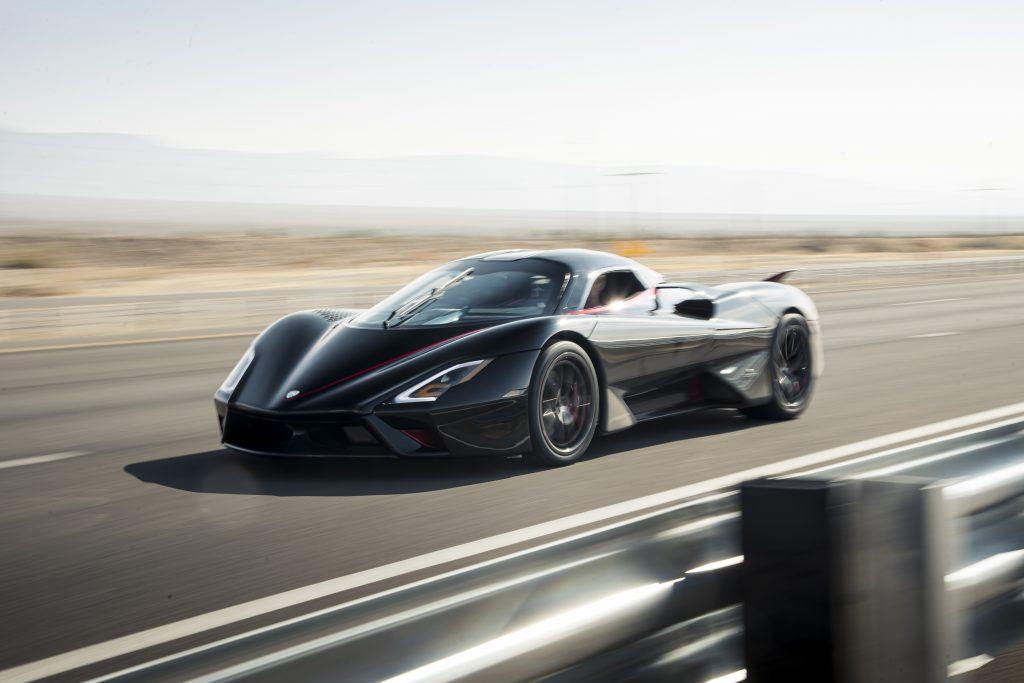 SSC Tuatara Production Car Speed Record front three-quarter action