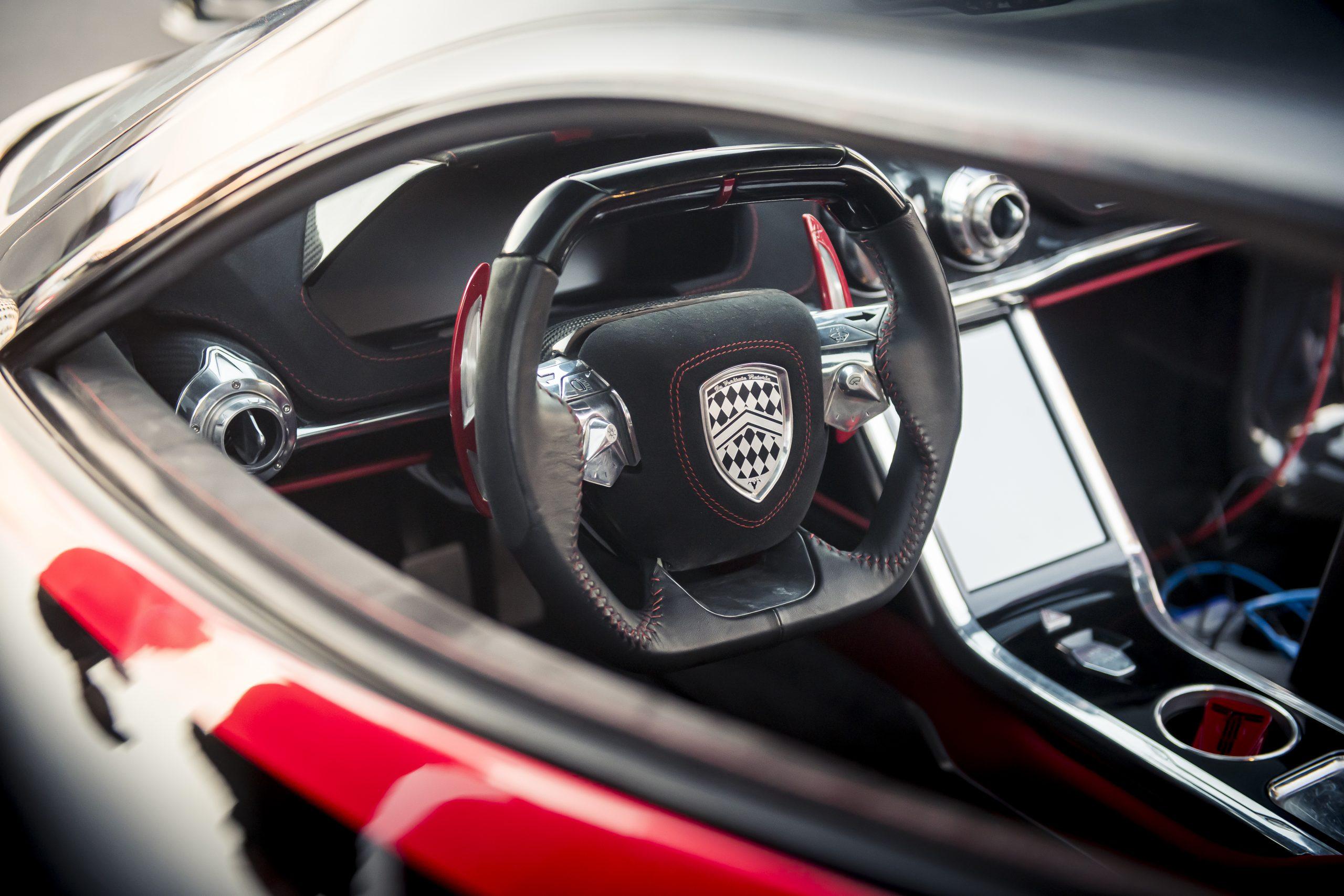 SSC Tuatara Production Car Speed Record steering wheel