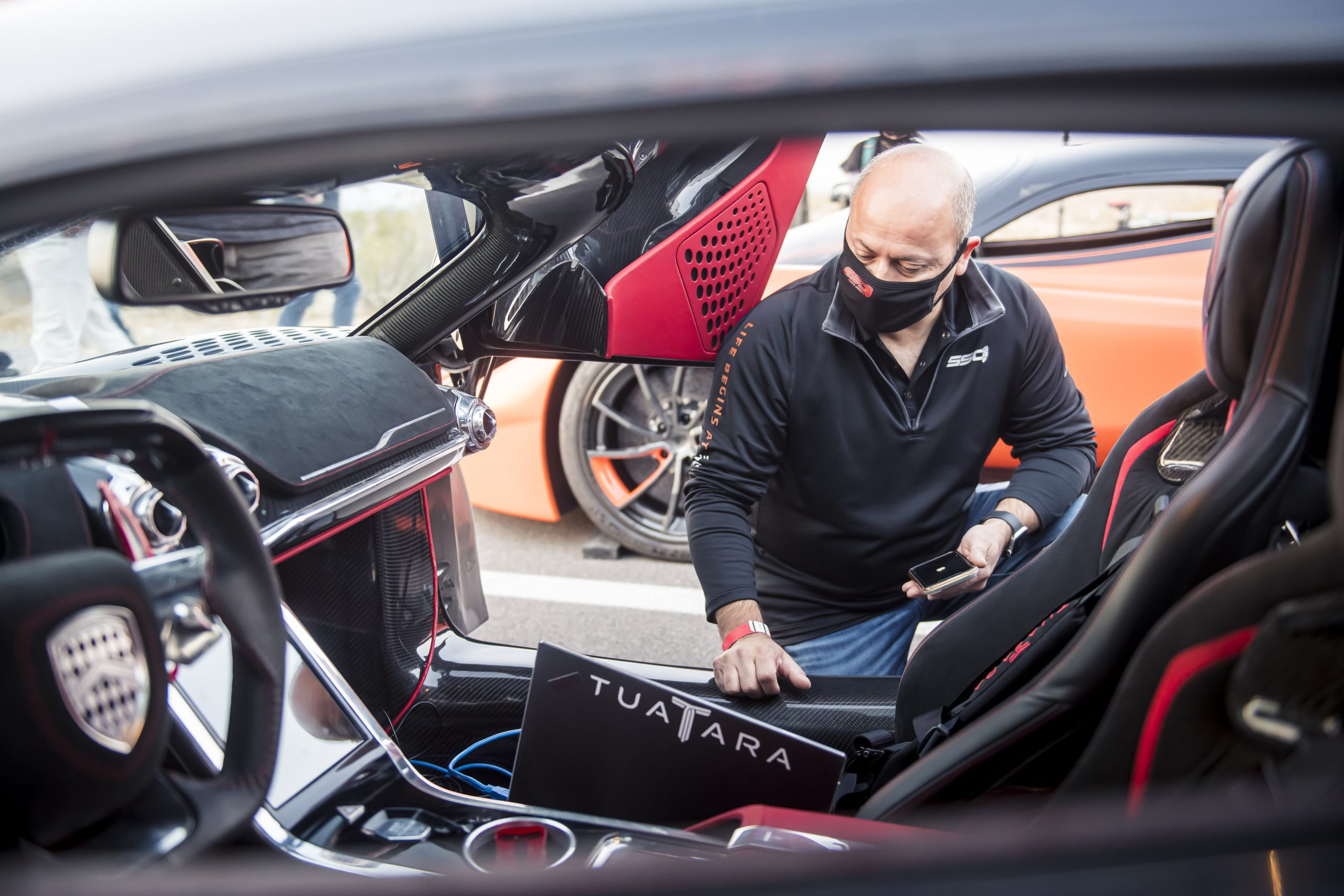 SSC Tuatara Production Car Speed Record engineer check