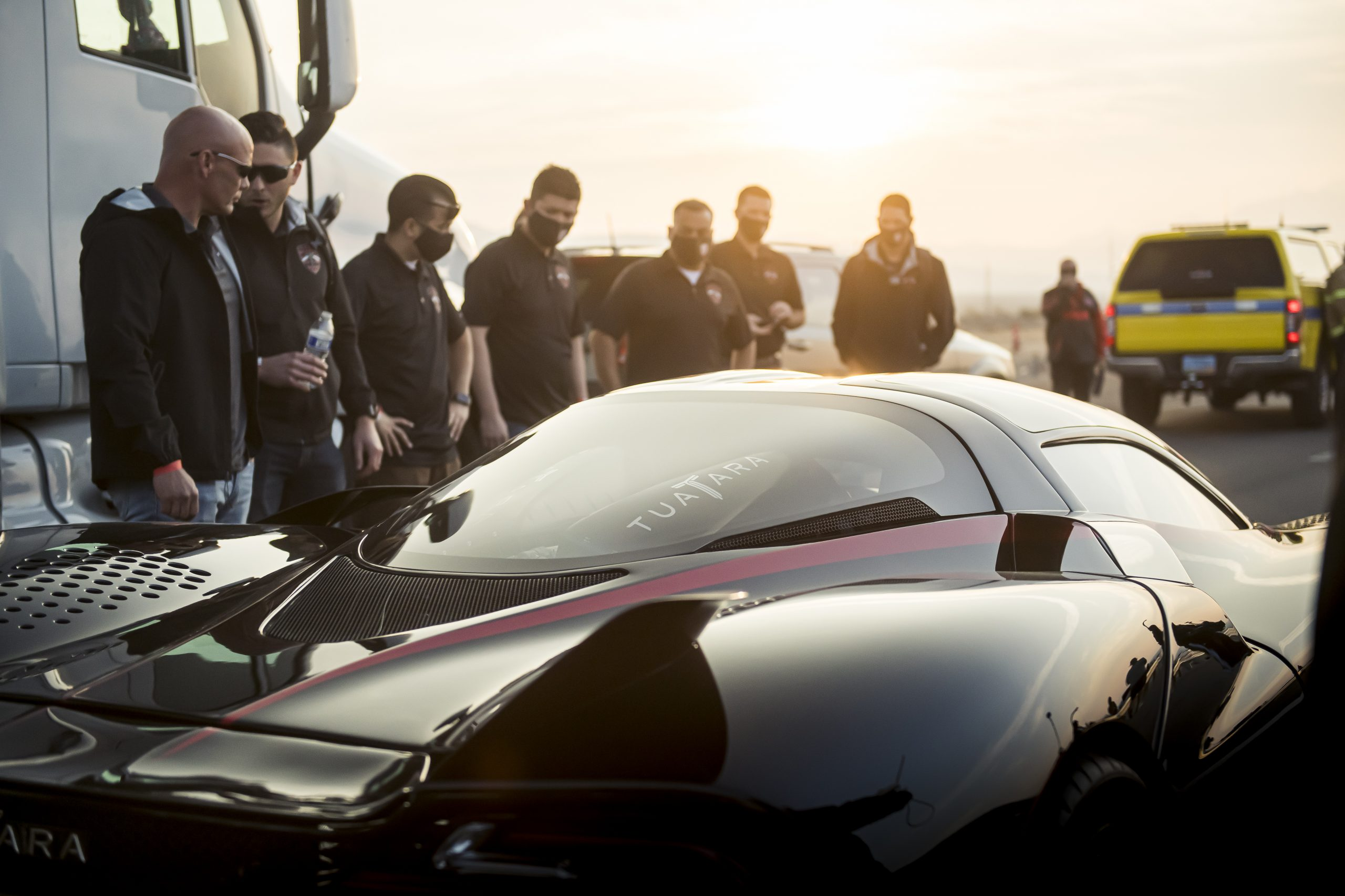 SSC Tuatara Production Car Speed Record team gathered