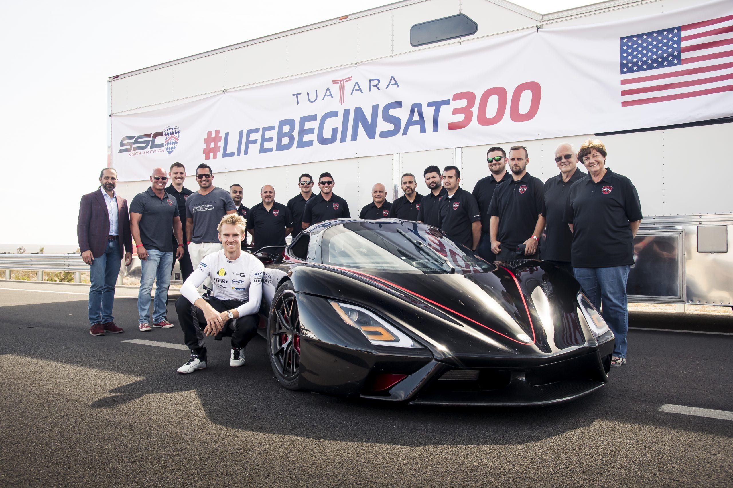 SSC Tuatara Production Car Speed Record team
