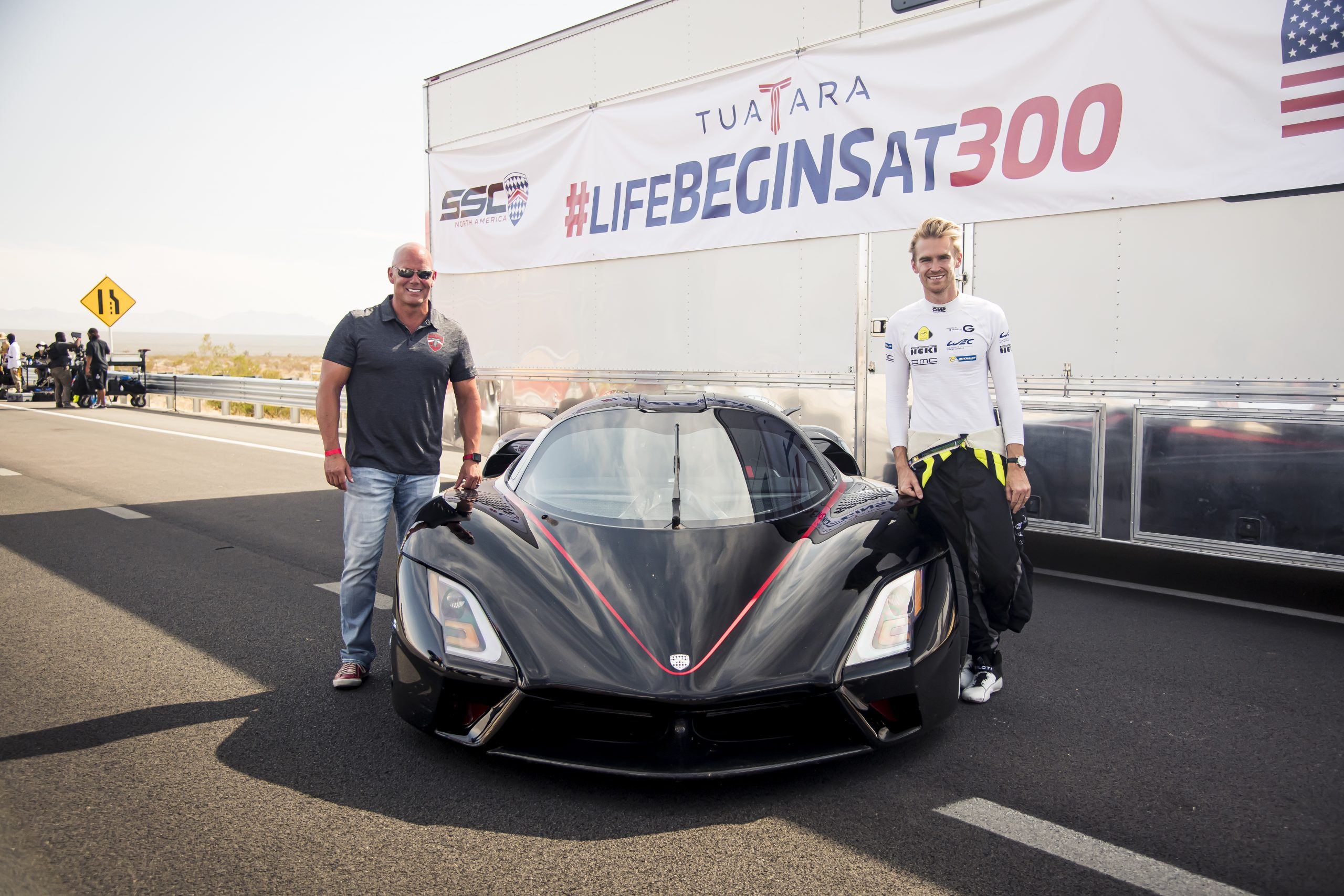 SSC Tuatara Production Car Speed Record shelby and driver