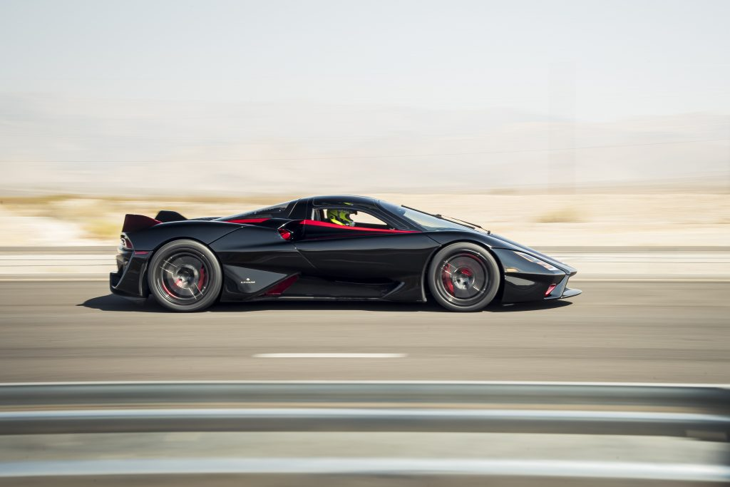 SSC Tuatara Production Car Speed Record side profile