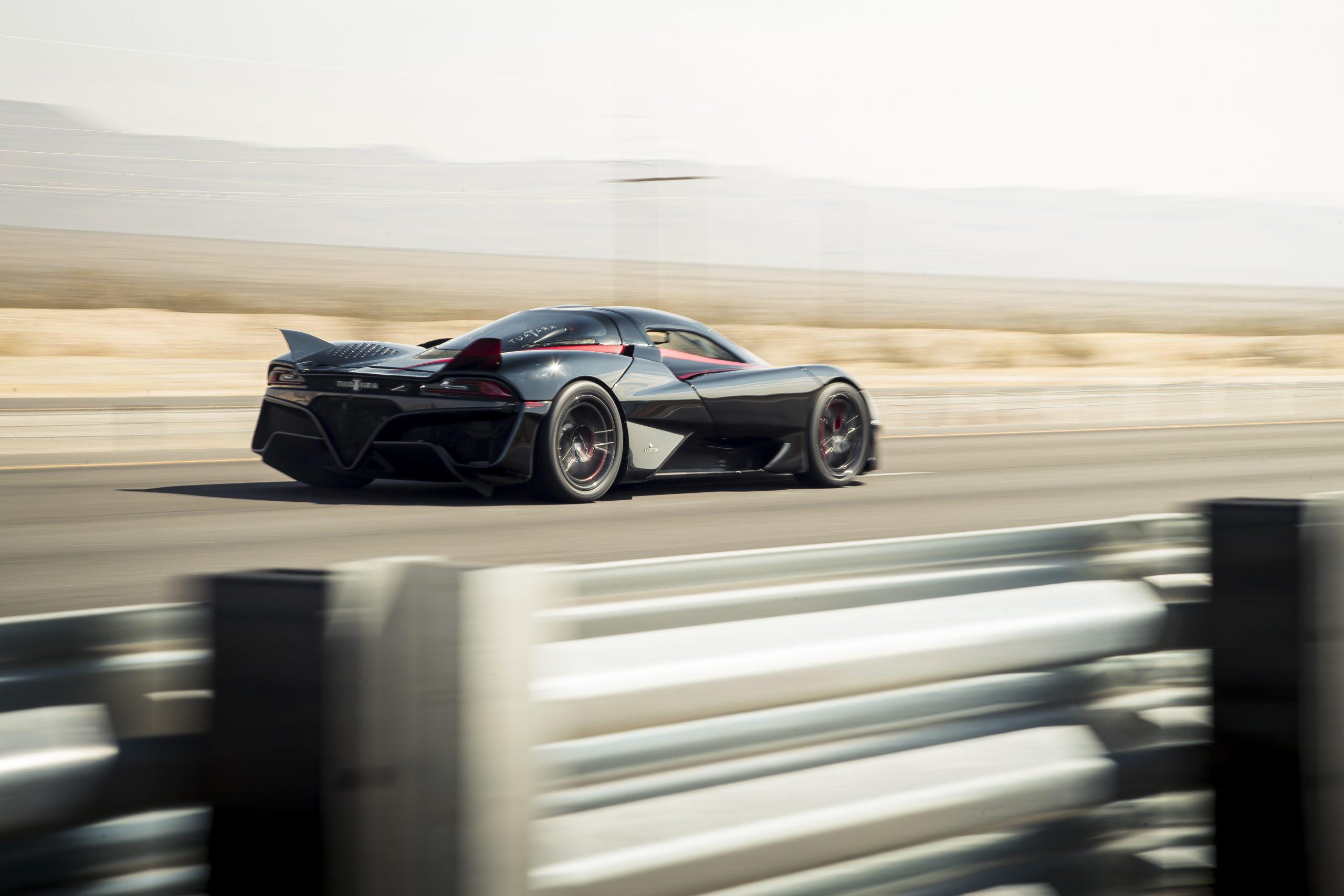 SSC Tuatara Production Car Speed Record rear three-quarter