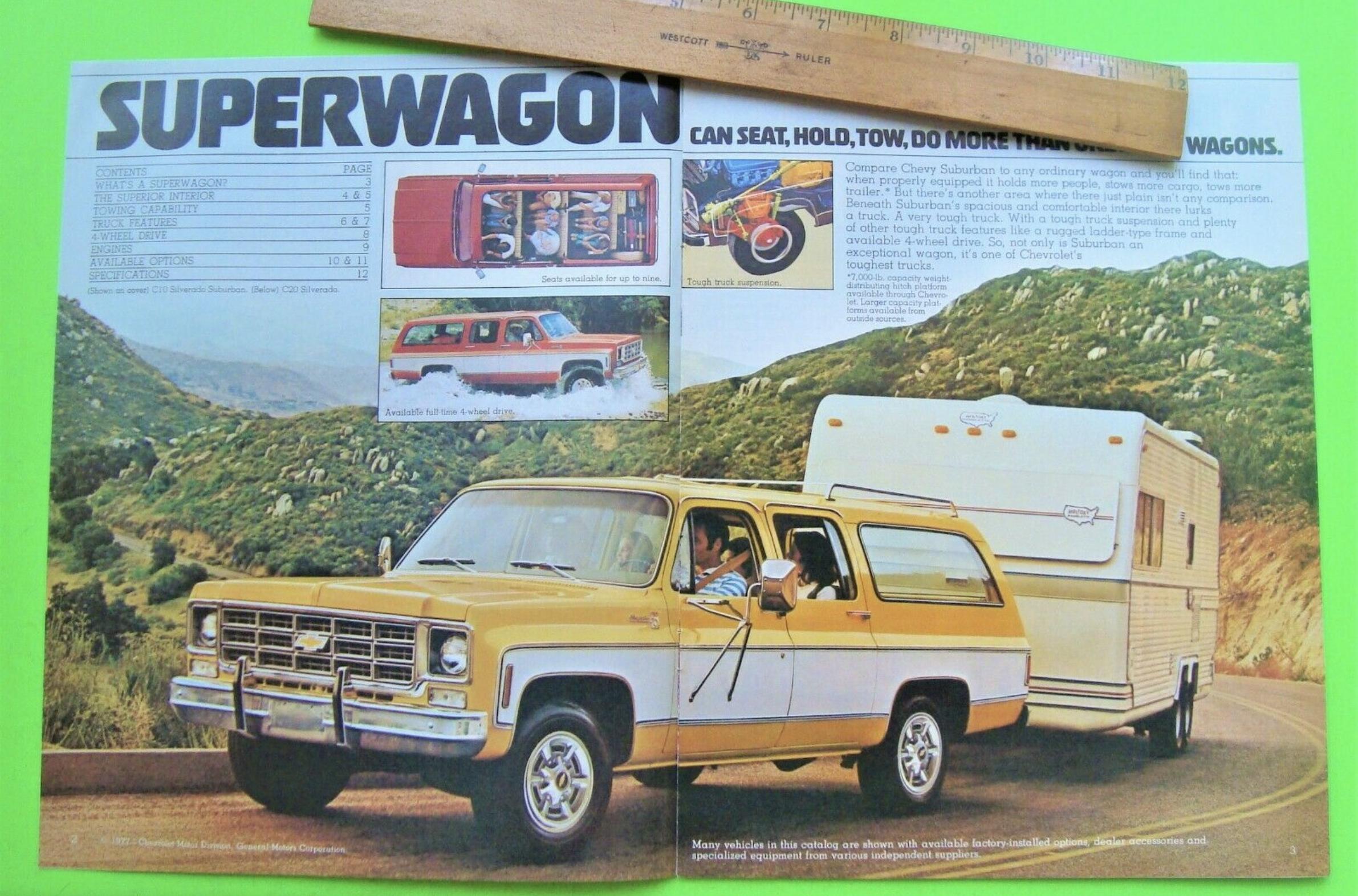 1977 Chevrolet Suburban ad superwagon