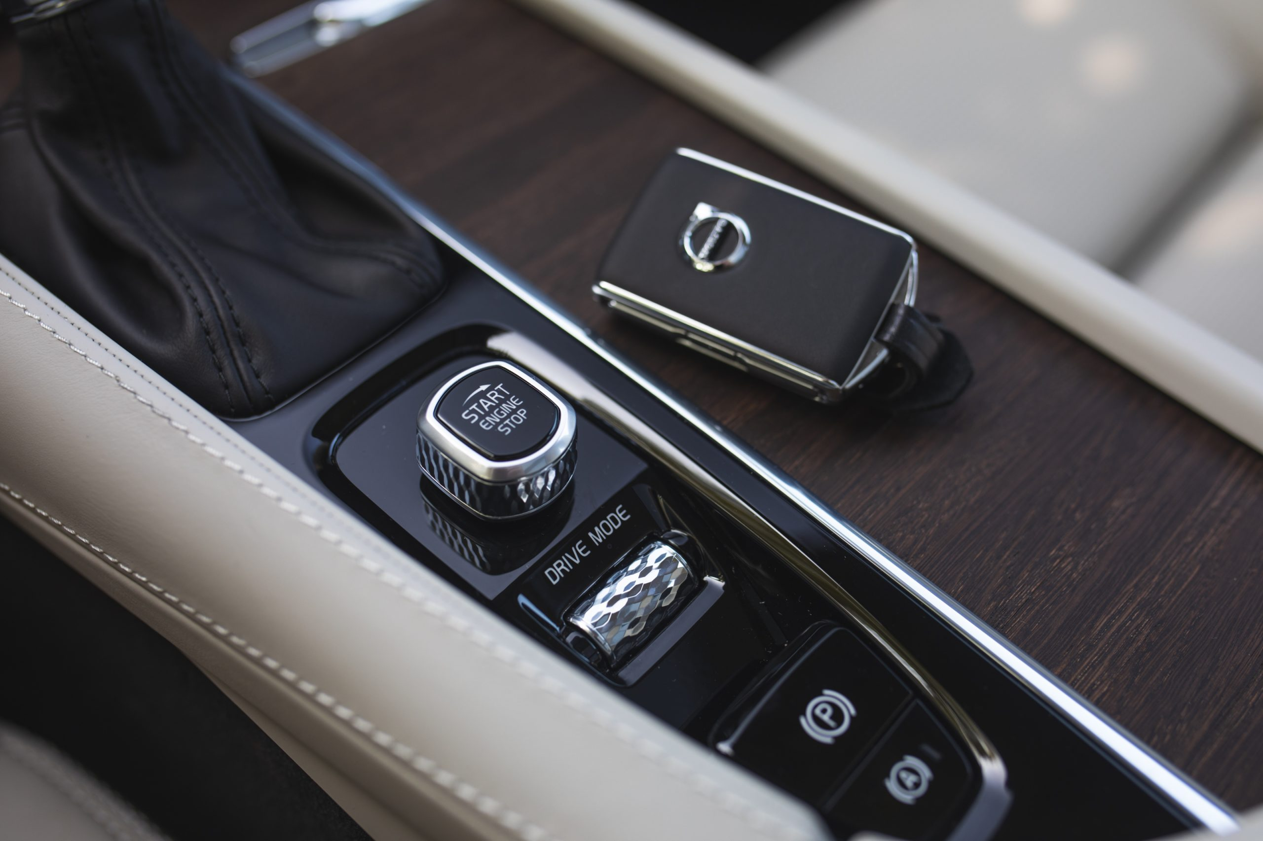 Volvo V90 key and ignition close up