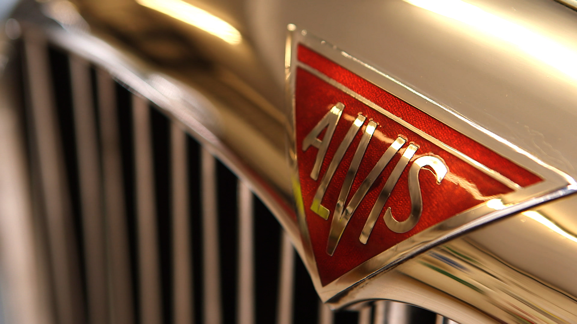 alvis coupe front badge logo